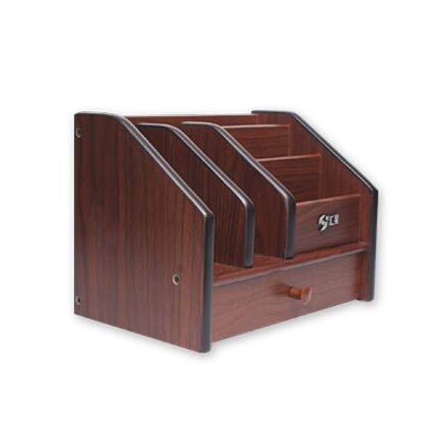 High Quality Wooden Pen Holder Stationery Pot Desk Organizer Pencil Stand Office Accessories