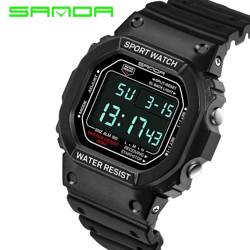 490496b0531 Brand SANDA Wrist Watch Men Women G Style Waterproof Sports Military Watch  Shock Men s Luxury Digital