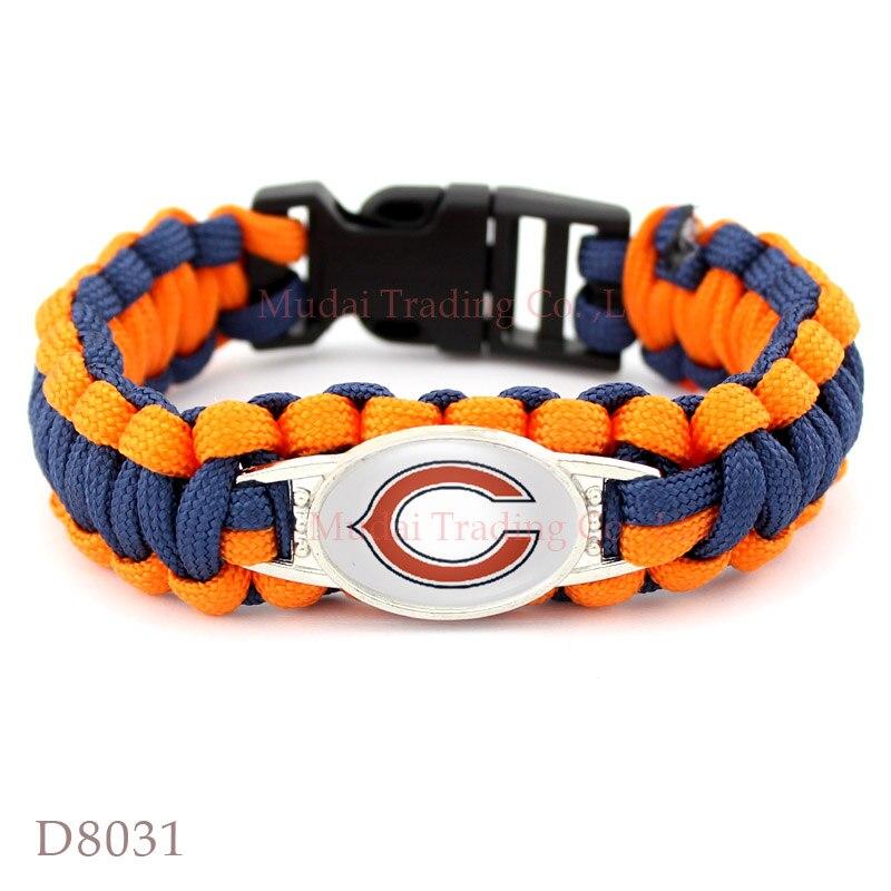 Оранжево синий браслет