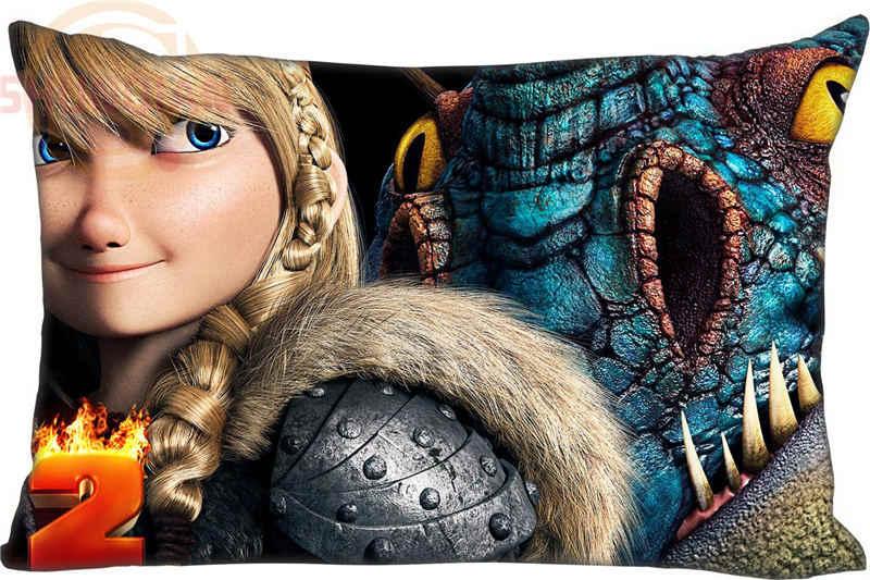 熱い販売最高ニースどのようにあなたのドラゴン長方形枕カバージッパーカスタム枕ケース