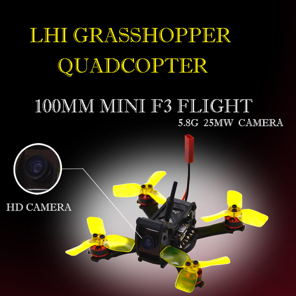 LHI RC helicopter 100mm FPV Racing Drone with Camera 5 8G 25MW 48CH flysky FS I6