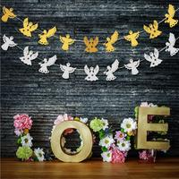 5pcs/Lot 3 Meters Gold/Silver/Red Paper Angel Girls Garland For Christmas Holiday Party Wedding Hotel Venue Decoration