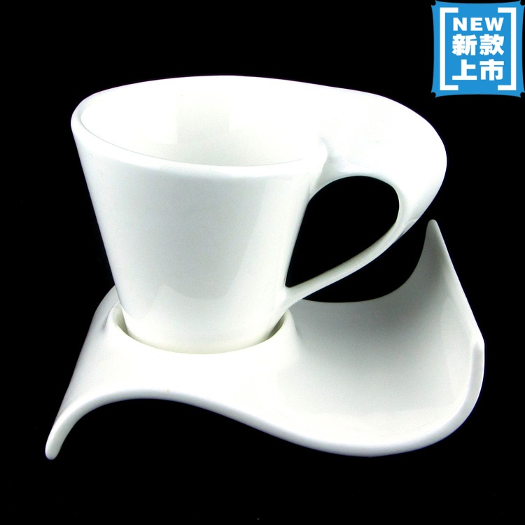 Ceramic art coffee cup and saucer coffee cup set unique Unique coffee cups mugs