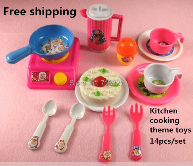 Simulation Toy Kitchen Utensils 14pcs/set Cake Suit Childrenu0027s Play Toy  Gift Food Items,