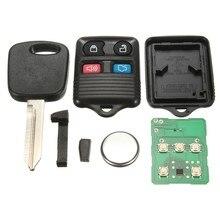4 Кнопка Автозапуск пульт дистанционного управления + Uncut ключ зажигания чипа для ford