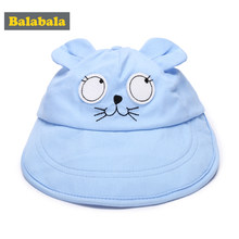 Balabala Baby Boys Sun Cap Cute Mouse Ears 2018 Fashion Summer Beach Baseball Hat Cotton Breathable Peaked Cap Newborn Accessory(China)