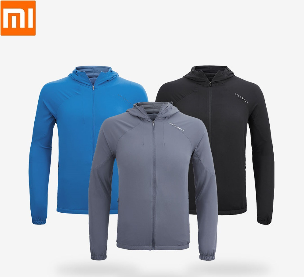 Xiaomi AMAZFIT man skin Windbreaker Outdoor sports Sunscreen breathable waterproof Sun protection clothing coat for male