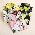 2016 Mulheres Blusa Estampa Floral Vintage Camisa Longa Das Senhoras Da Luva Camisas de Algodão Tops Blusas Femininas Plus Size Mulheres Casual Praia