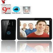 YobangSecurity 9 Inch Video Door Phone Doorbell Intercom,Rainproof Door Phone with Video Recording and Photo Taking Function