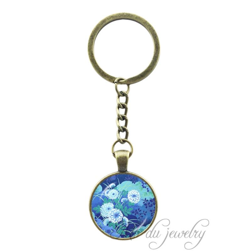 Japanese Art Print Key Chain Ring Asian s