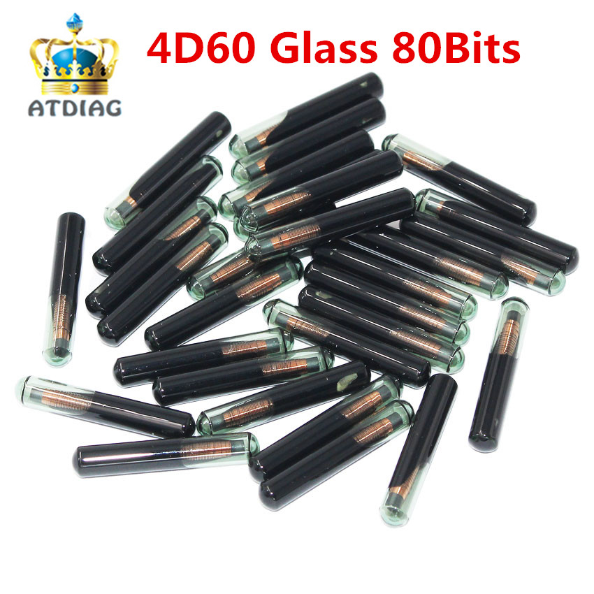 4D60 20Pcs Lot New 4D ID60 Glass Transponder Chip Fits For F o r d Connect
