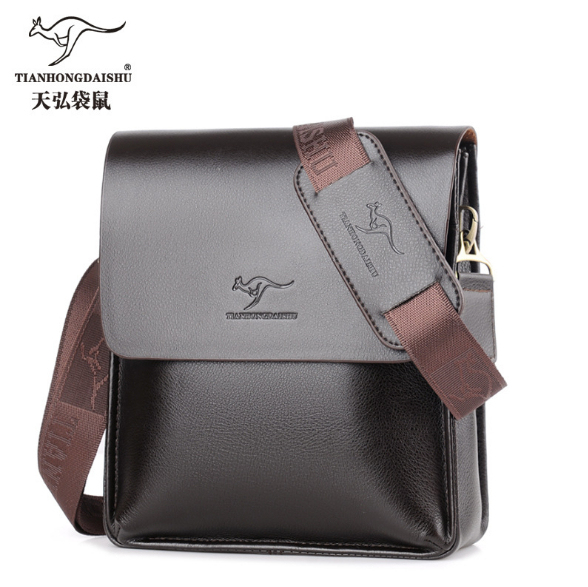 New Man Vertical Leather Bag Men Messenger Commercial S Briefcase Designer Handbags High Quality Shoulder Bags