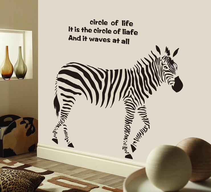 Online Shop Cartoon Black Zebra Wall Stickers Quotes Removable Horse Living Room Bedroom Vinyl Decoration Adesivo De Parede Car Home Decor | Aliexpress ... & Online Shop Cartoon Black Zebra Wall Stickers Quotes Removable Horse ...