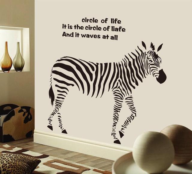 Cartoon Schwarz Zebra Wandaufkleber Abnehmbare Zitate Pferd ...