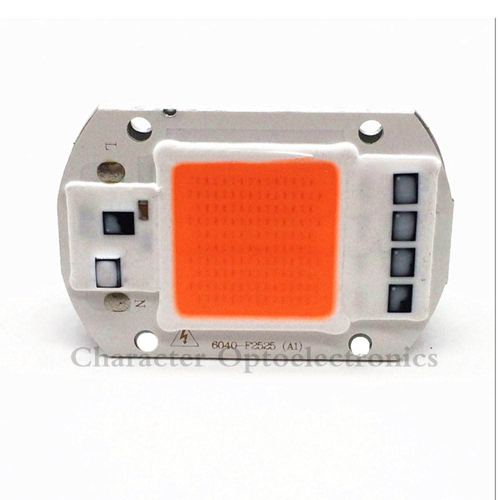 10PCS Hot sell AC220V 110V real full spectrum 380 840nm indoor instead sunlight actual Power 20W 30W 50W DIY led grow light chip in Light Beads from Lights Lighting