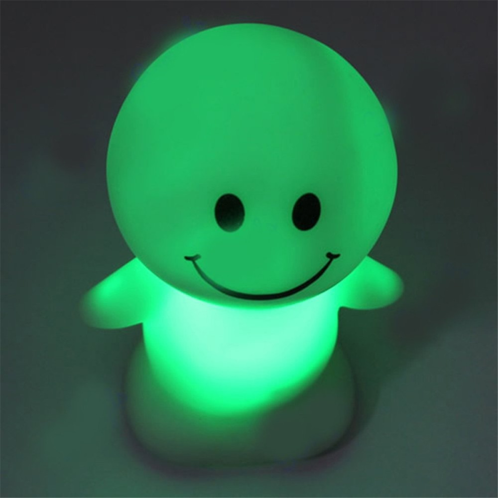 E-SMAETER Cartoon Sunny Day Dolls LED Christmas Cute Dolls Toys Novelty Lamp LED Changing Color Night Light Gift For Children