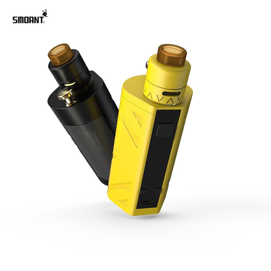 Original E-cigarette Smoant 200 W Battlestar TC Squonker Kit double 18650 batterie Vape Mod 7 ml réservoir 0.96 pouces OLED écran vaporisateur