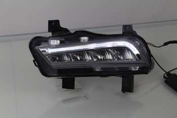 LED DRL daytime running light for chevrolet cruze 2014-15 top quality, yellow turn signals + drl + fog lamp
