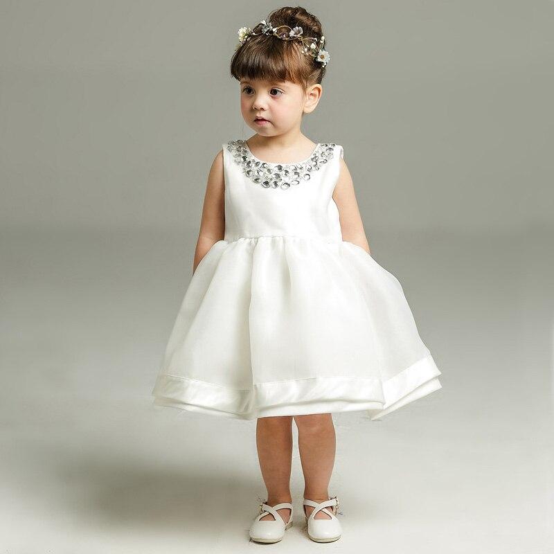 2018 New Lace Baby Girl Dress 3M-24M 1 Years Baby Girls Birthday Dresses Vestido birthday party princess dress ...