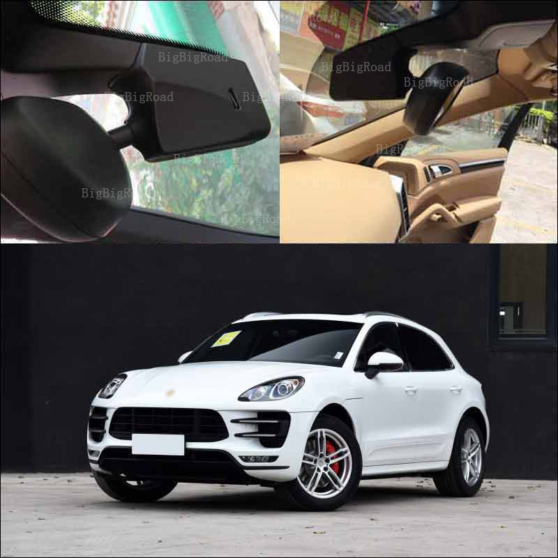 BigBigRoad For Porsche Macan car front camera APP control wifi Car DVR car black box dash camera keep Car Original style bigbigroad for peugeot 3008 app control car wifi dvr dual camera video recorder night vision car black box wdr car dash camera