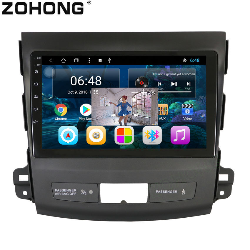 2 5D 9inch Octa 8 Core Android 8 1 Car DVD Multimedia Player for Mitsubishi Outlander
