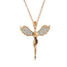 Bettyue Brand Fashion Charm Gorgeous Originality Rose Gold Cubic Zircon Jewelry Angel Necklaces For Women Wedding Birthday Gift(China)