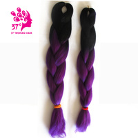 Dream Diana Two Tone High Temperature Fiber Ombre Braiding Hair 10 Pieces 24 Inch Jumbo Braid