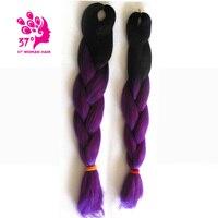 Dream Diana Two Tone High Temperature Fiber Ombre Braiding Hair 10 Pieces 24 Inch Jumbo Braid