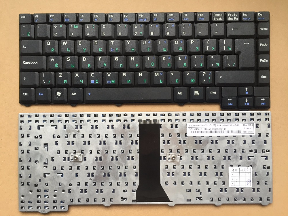 New RU Russia Tastiera Per F2 F20 F2JE F2JV F2L x53L PIN Tastiera Del  Computer Portatile 40c30c45ba1