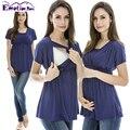 Emoção Mães Maternidade Verão roupas de Enfermagem superior de enfermagem Amamentação Tops roupas de gravidez para mulheres grávidas Tops de Maternidade