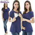 Emoción Mamás ropa De Verano de Maternidad ropa de Enfermería superior de enfermería Tops de Lactancia embarazo para las mujeres embarazadas de Maternidad Tops