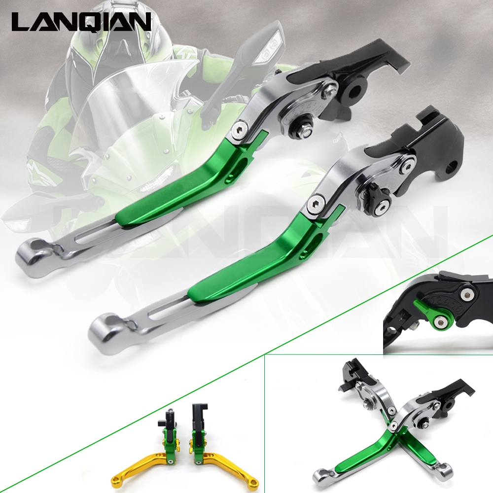 CNC Motorcycle Brakes Clutch Levers Adjustable Folding Extendable For KAWASAKI <font><b>Ninja</b></font> ZX6R ZX 6R 636 2007 - 2014 <font><b>2015</b></font> 2016 2017 image