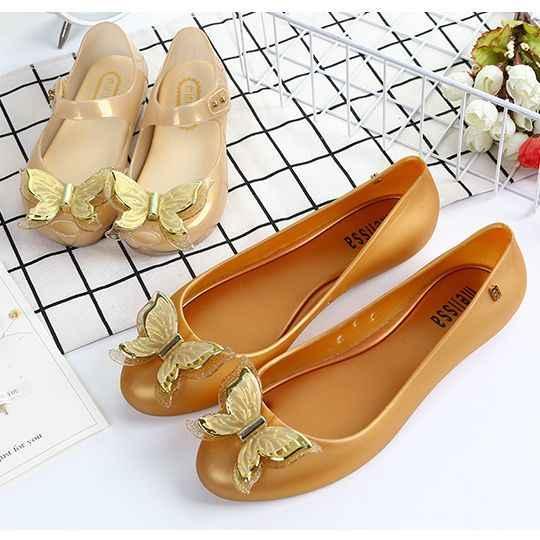 Мини Мелисса 3D бабочка родитель-ребенок обувь женские прозрачные сандалии 2018 новые женские сандалии Мелисса босоножки Мелисса золотой черный