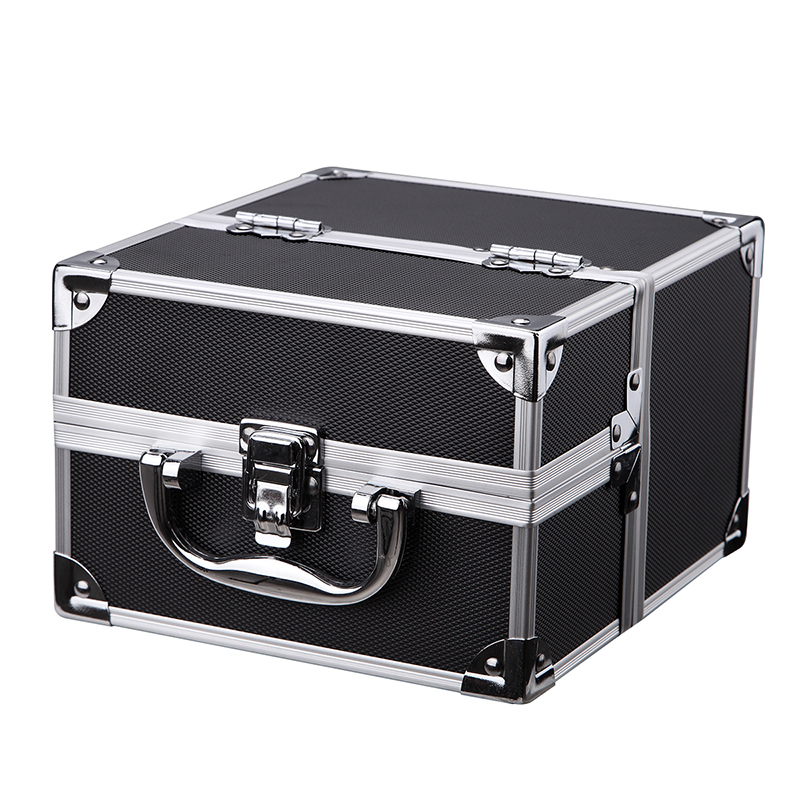 Hard Small Carrying Case Aluminum Framed Combination Lock Safe Storage Bins Cosmatics Make Up Box