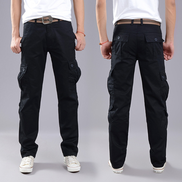 2020 Brand Mens Military Cargo Pants Multi-pockets Baggy Men Pants Casual Trousers Overalls Army Pants Cargo Pants high quality 4