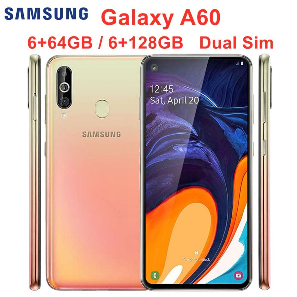 "Samsung Galaxy A60 A6060 Dual Sim 6GB RAM 64/128GB ROM Original LTE Mobile Phone Octa Core 6.3"" 4 Camera Snapdragon 675 NFC"