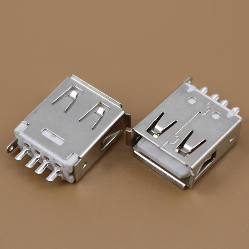1 Pcs Straight Solder Type USB A Female Plug Jack Connector