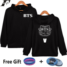 LUCKYFRIDAYF BTS Hoodie Sweatshirt Zipper Kpop Bangtan Boys Fashion Coat Oversized Mens Hoodies And Sweatshirts Zip Streetwear