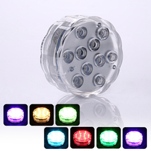 2PCS Underwater Wireless Remote Control Led Multi Color Spotlight 10LED Light Waterproof Night Light for Home