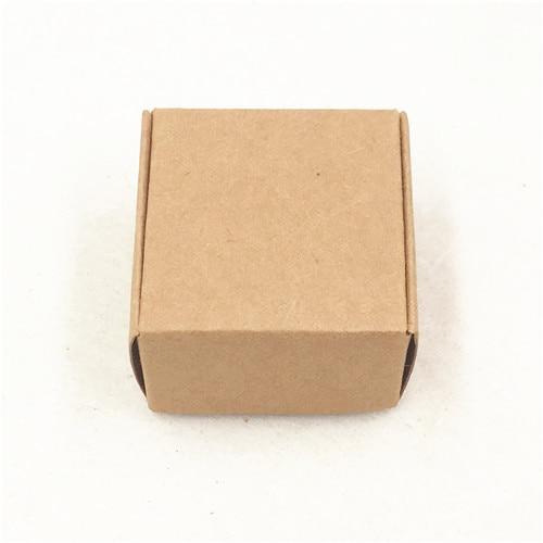 50 шт 4*4*2,5 см самолет коричневый подарочная упаковка крафт-бумага упаковочная коробка ручной работы Любовь Свадьба \ ремесла \ торт \ мыло ручной работы \ коробки для конфет - Цвет: Коричневый