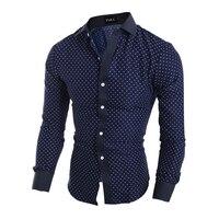 New 2018 Men Brand Shirt Casual Men Slim Fit Dress Shirt Camisa Masculina Fashion Long Sleeve