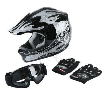 DOT Motorcycle Youth Kids Child helmet full face motocross casco moto Off-road Street Goggles Gloves Bike helmets ATV capacete 7