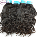 Brazilian Natural Wave Virgin Hair Rosa Hair Products 4 Bundles Water Wave 7A Wet And Wavy Virgin Brazilian Hair Weave Bundles