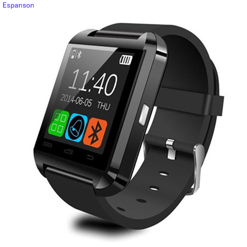 Espanson U8 Smart Watch Clock Sync Notifier Wrist with Men Women Bluetooth