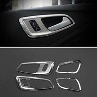 Car Accessories Trim Chrome Interior Handle Cover For Ford C MAX CMAX 2011 2012 2013 2014