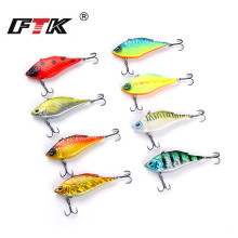 Купить с кэшбэком FTK Lifelike VIB Floating Lure hooks 73mm 15g 6# triple Pesca Hooks Vibration Slow Sinking Fish Wobbler Tackle Crankbait