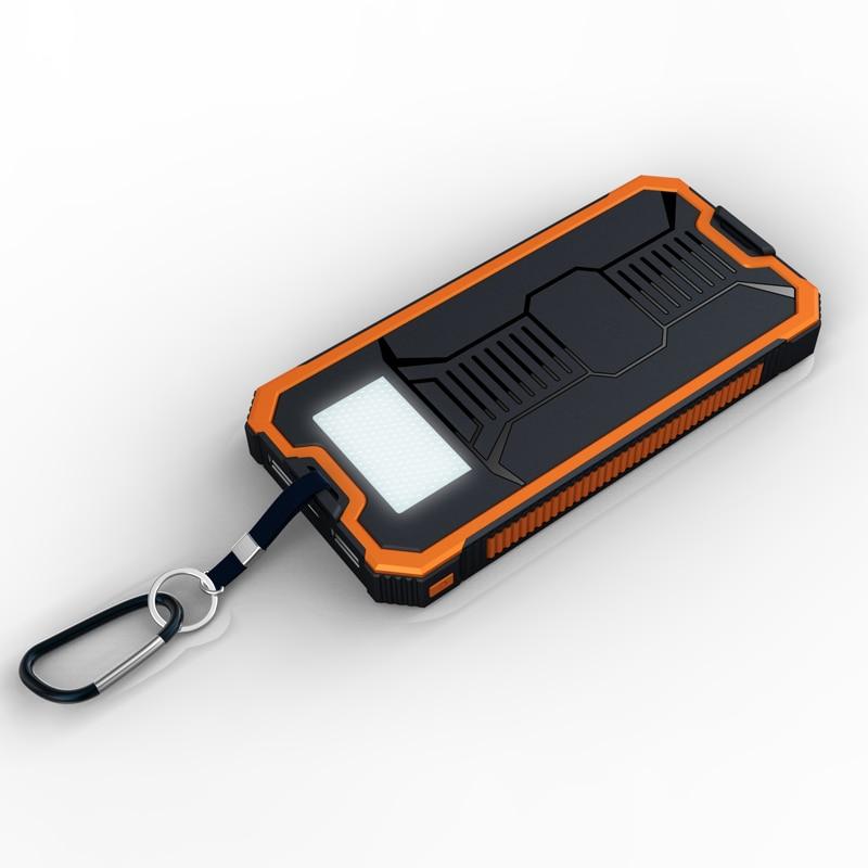 T. Cara Pover Poverbank Teléfono Celular Banco de la Energía Móvil Solar Portátil Cargador de Batería Externo Móvil Mi Powerbank 10000 mah