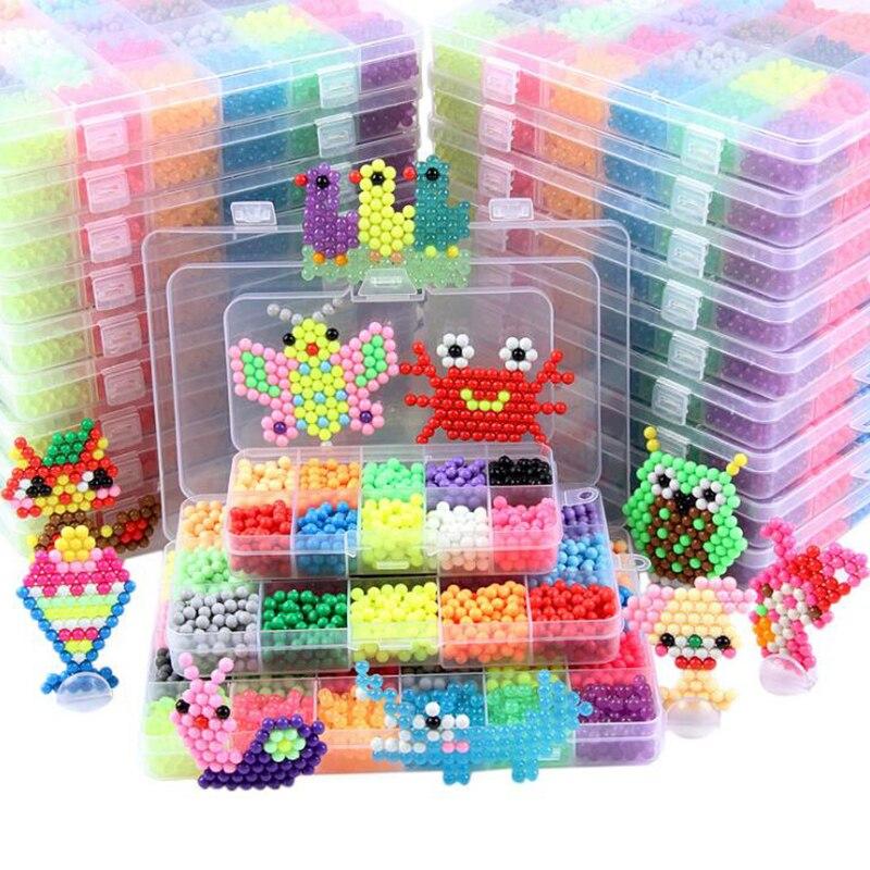 1100pcs/box 10 Colors DIY Magic Beads Ball Qua Jouets Perler Hama Pixels Magic Beads Jigsaw Puzzle Educational Toy