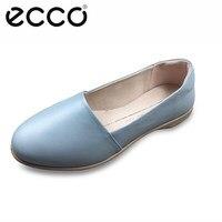 Ecco/2019 женские туфли на плоской подошве; модная обувь из натуральной кожи; женские мокасины; Повседневная нескользящая обувь; женские балетк