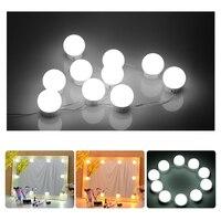 Hollywood Style LED Vanity Mirror Lights Kit Dimmable Light Bulbs Lighting Fixture Strip Makeup Vanity Table Set usb Charging